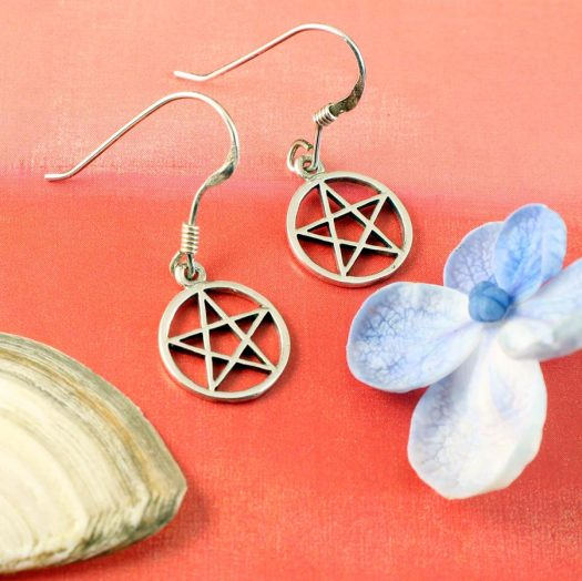 Openwork Pentacle Earrings E-0184-g