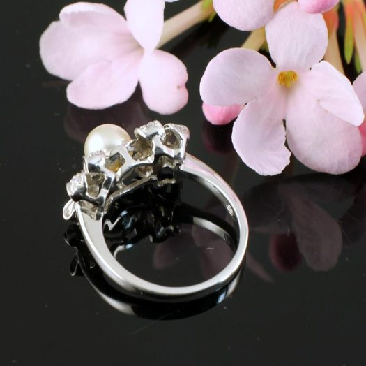 Pearl & Marcasite Ring R-0188-g
