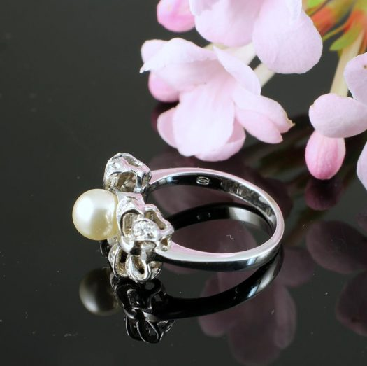 Pearl & Marcasite Ring R-0188-i