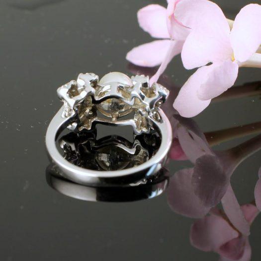 Pearl & Marcasite Ring R-0188-k