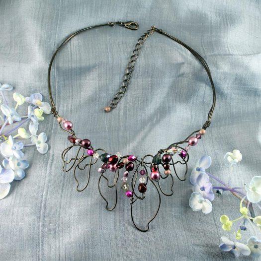 Pink Hand-Painted Pearls N-0202-c