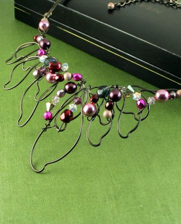 Pink Hand-Painted Pearls N-0202-d