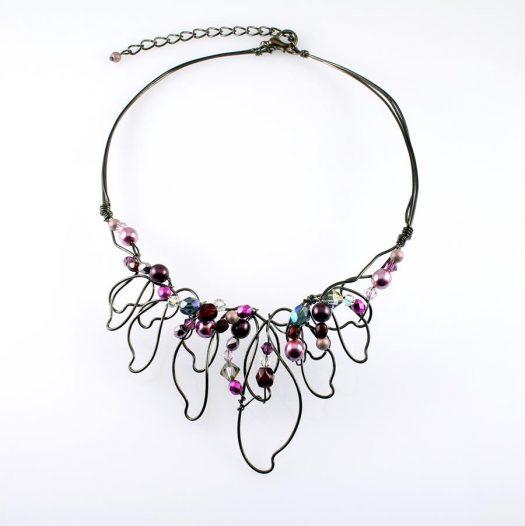 Pink Hand-Painted Pearls N-0202-h