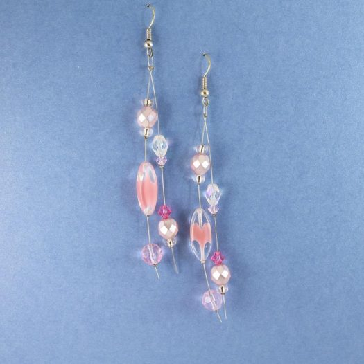 Pink Swarovski Crystal Drops E-0119-d