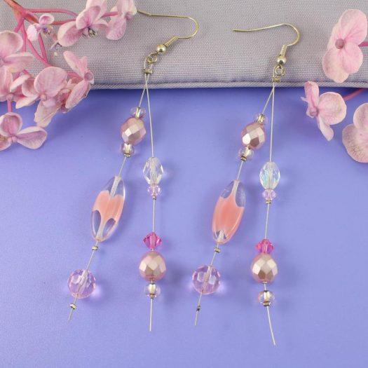 Pink Swarovski Crystal Drops E-0119-i