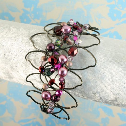 Pink Wire-Wrapped Pearls B-0158-i