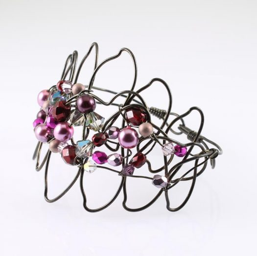 Pink Wire-Wrapped Pearls B-0158-l