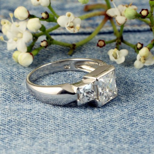 Quartz Crystal Ring R-0189-c