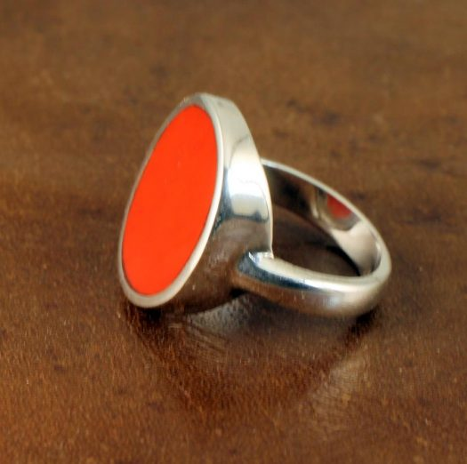 Red Coral Ring R-0104-b