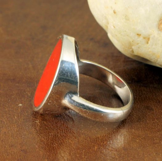 Red Coral Ring R-0104-c