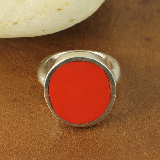 Red Coral Ring R-0104-h