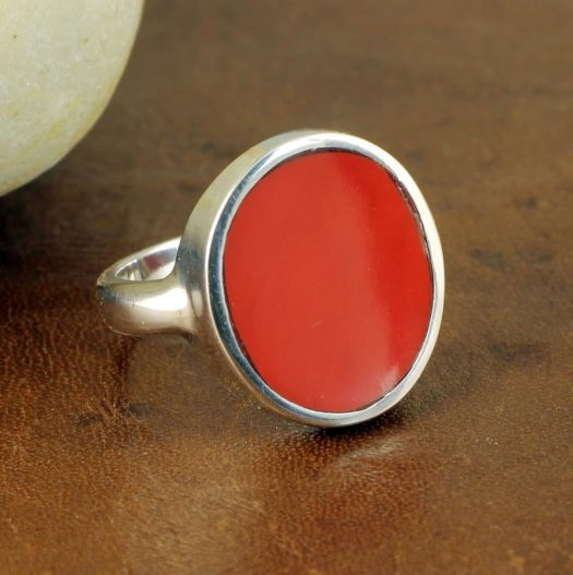 Red Coral Ring R-0104-i