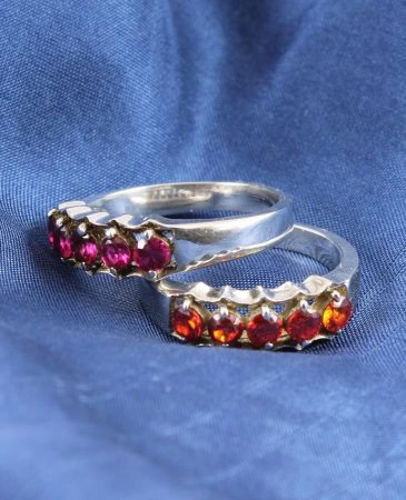 Red-Orange Rhinestone Ring R-0145-b (Copy)