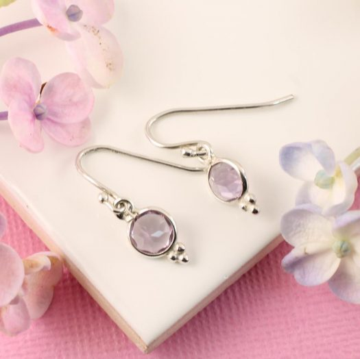 Rose Quartz Earrings E-0161-a