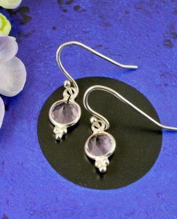 Rose Quartz Earrings E-0161-b