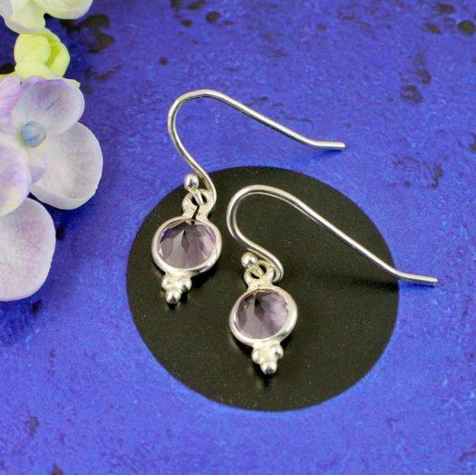 Rose Quartz Earrings E-0161-b