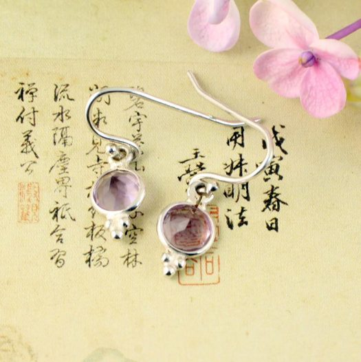 Rose Quartz Earrings E-0161-d