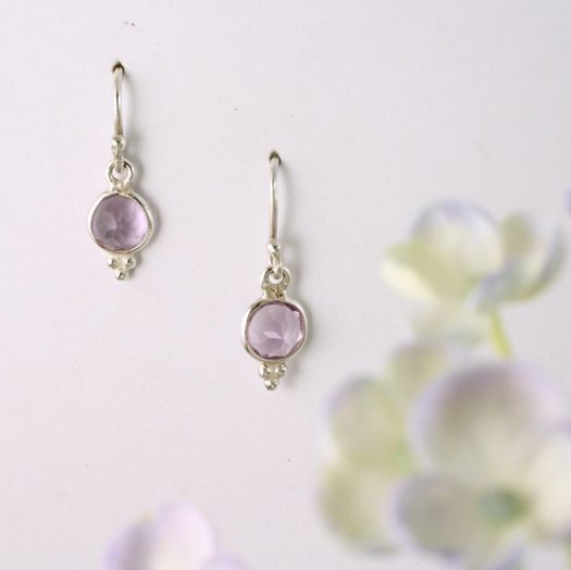 Rose Quartz Earrings E-0161-e