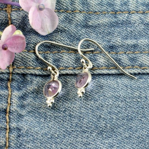 Rose Quartz Earrings E-0161-f