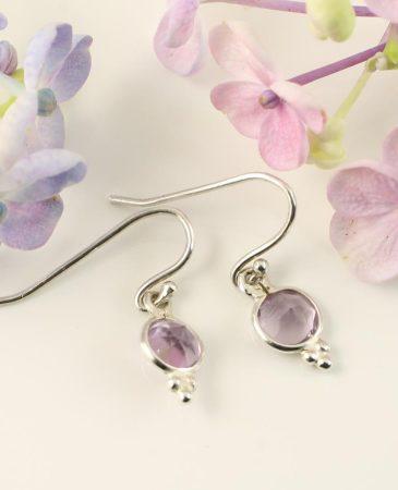 Rose Quartz Earrings E-0161-g