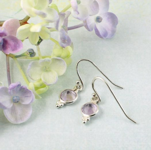 Rose Quartz Earrings E-0161-i