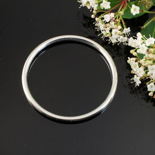 Silver Circle Bangle B-0105-a