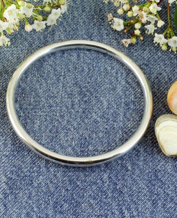 Silver Circle Bangle B-0105-b