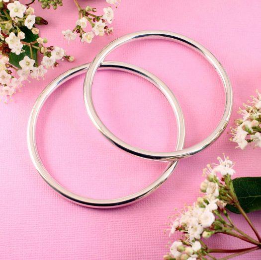 Silver Circle Bangle B-0105-c