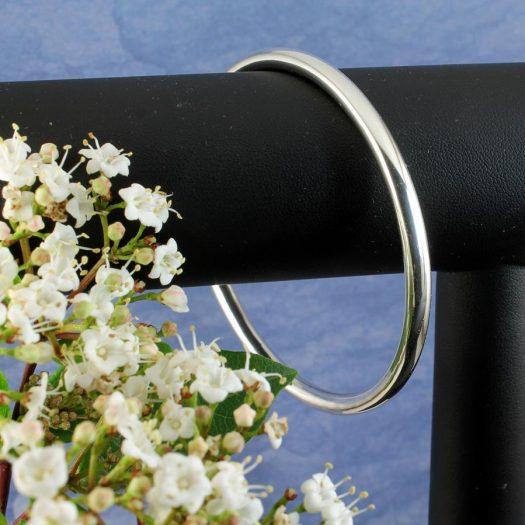Silver Circle Bangle B-0105-f