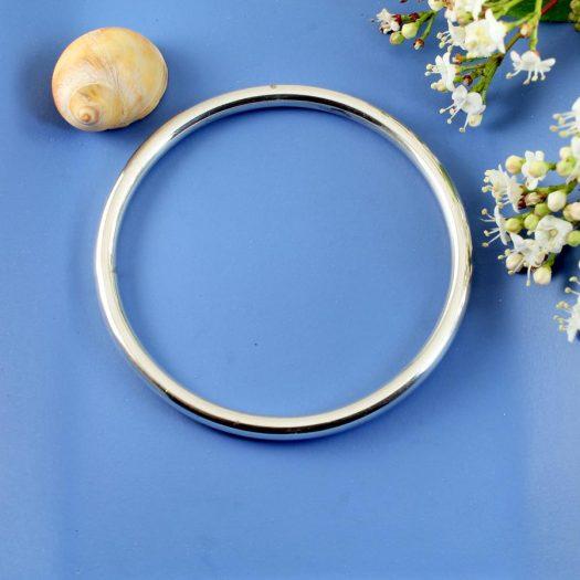 Silver Circle Bangle B-0105-g