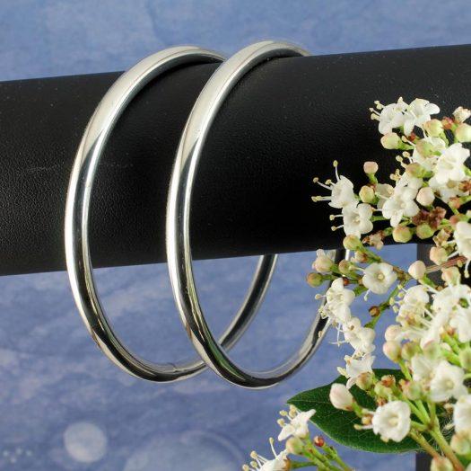 Silver Circle Bangle B-0105-h