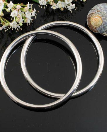 Silver Circle Bangle B-0105-i