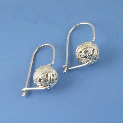 Silver Filigree Globe E-0128-a