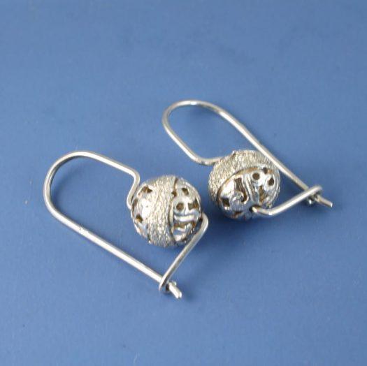 Silver Filigree Globe E-0128-i