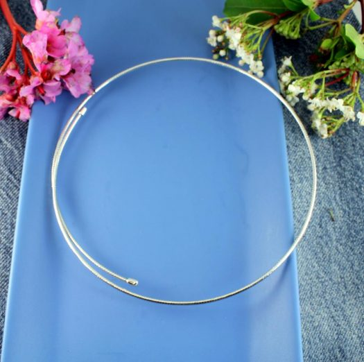 Silver Open Neck-Ring N-0187-a