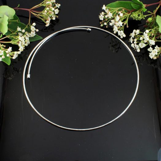 Silver Open Neck-Ring N-0187-b