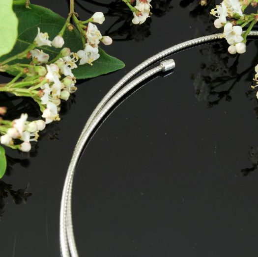 Silver Open Neck-Ring N-0187-d