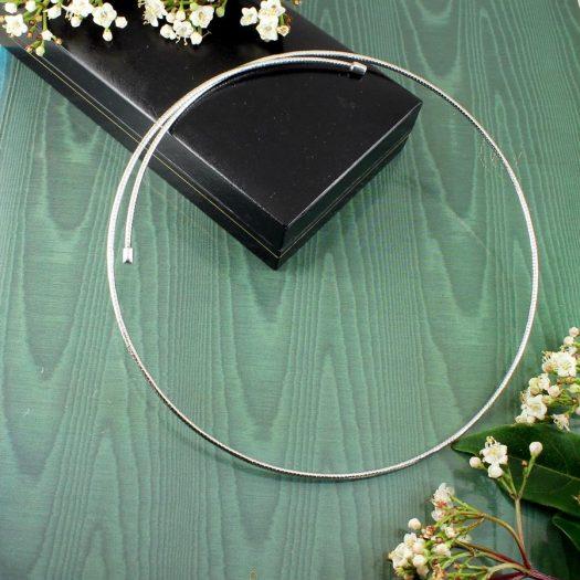 Silver Open Neck-Ring N-0187-e