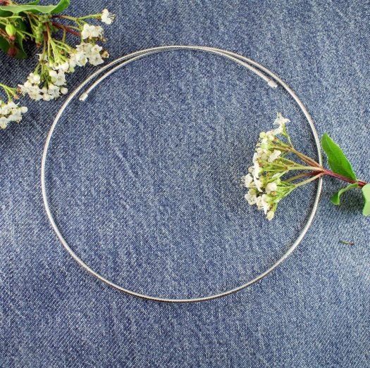 Silver Open Neck-Ring N-0187-g