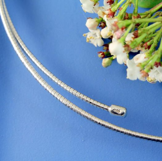 Silver Open Neck-Ring N-0187-h