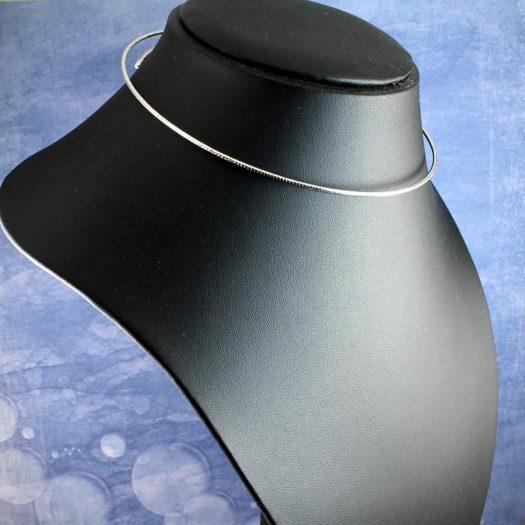 Silver Open Neck-Ring N-0187-j