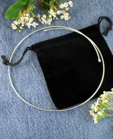 Silver Open Neck-Ring N-0187-k