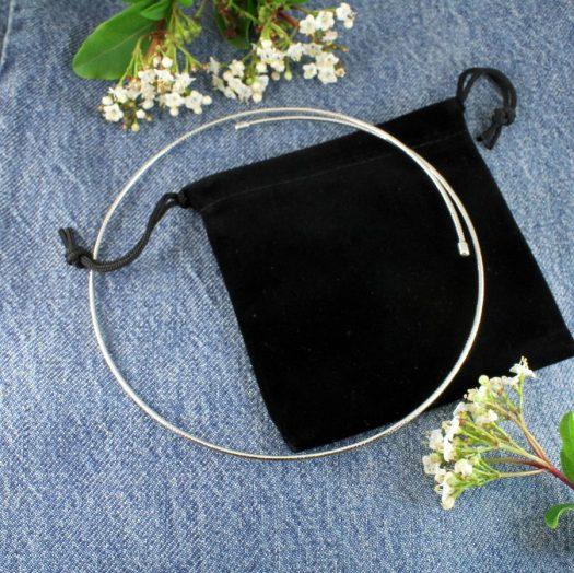 Silver Open Neck-Ring N-0187-k