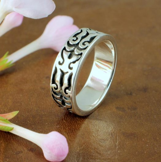 Silver Tribal Ring R-0186-a