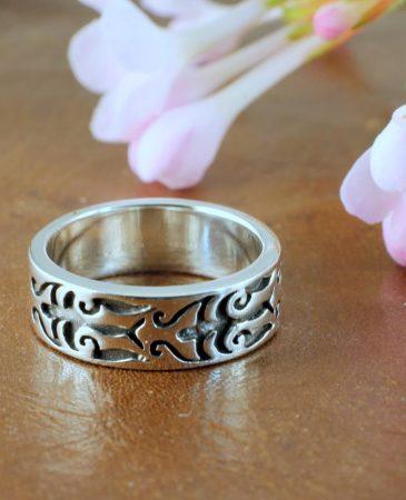 Silver Tribal Ring R-0186-b