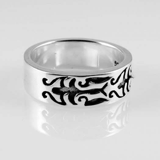 Silver Tribal Ring R-0186-c