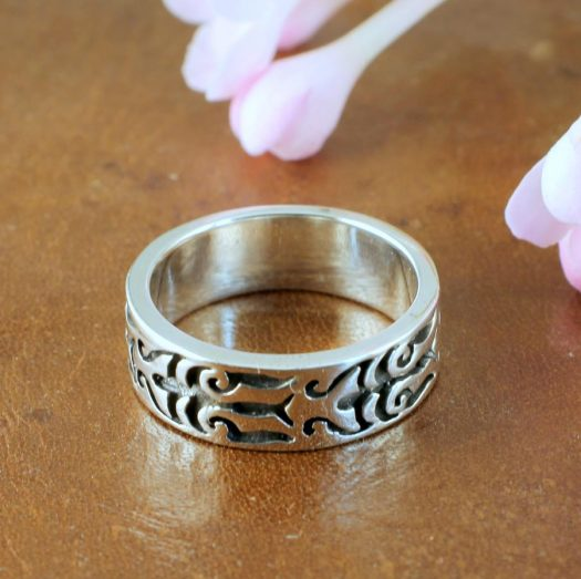 Silver Tribal Ring R-0186-d