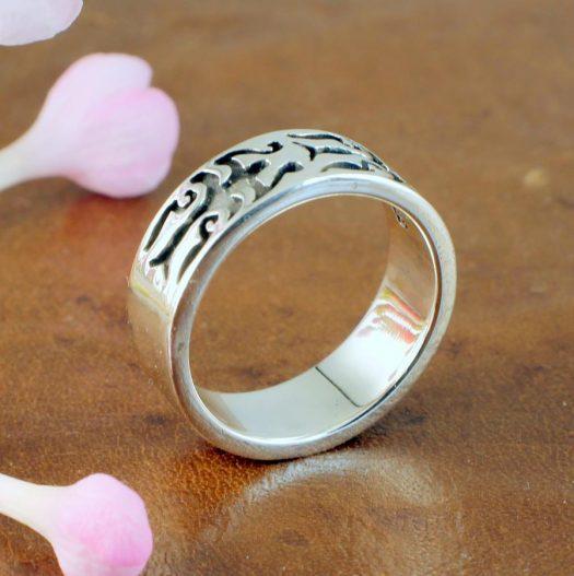 Silver Tribal Ring R-0186-g