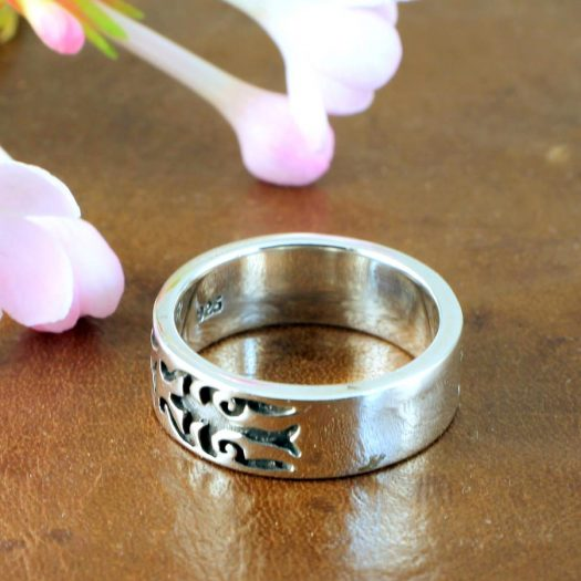 Silver Tribal Ring R-0186-h