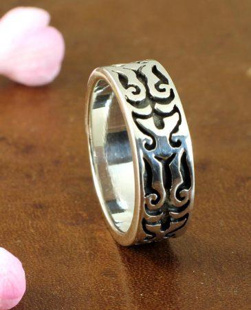 Silver Tribal Ring R-0186-j